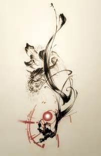 tattoo art styles sumi brush brush strokes design