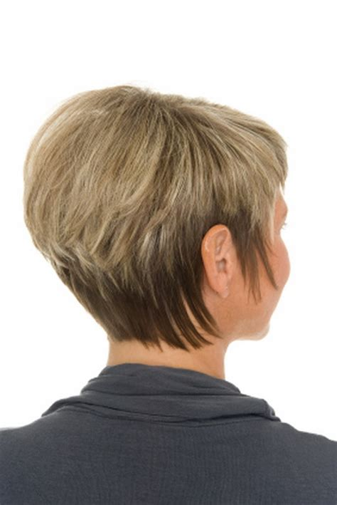 hair style short and stacked on top and long agled sides longer back short stacked hairstyles for women