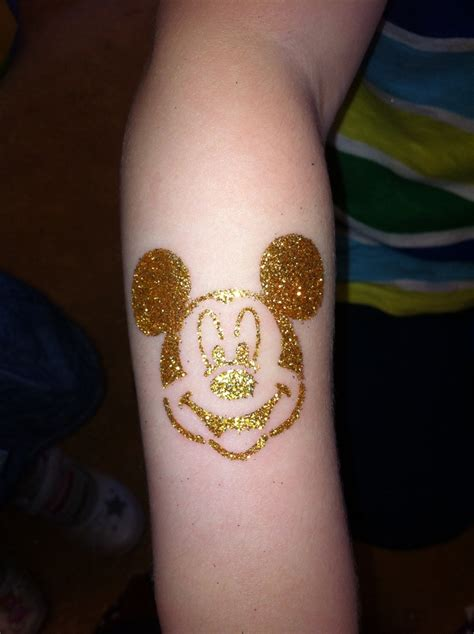 permanent glitter tattoos mickey mouse glitter by lionhearts if