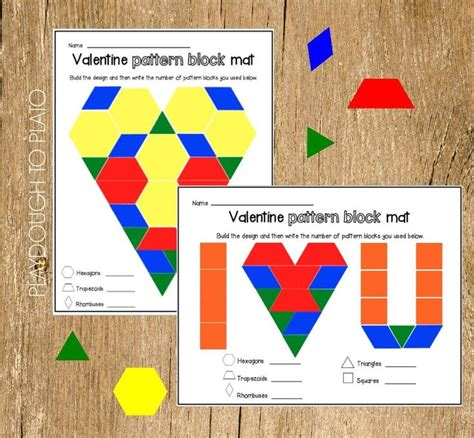 pattern block symmetry activities valentine s pattern block mats pattern blocks math