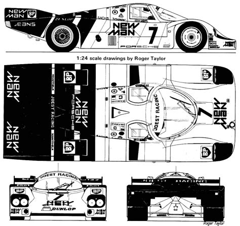 Porsche 956 Sketches Of Performance by 1984 Porsche 956b Joest New Racing Coupe Blueprints