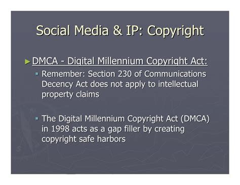 section 230 communications decency act social media implications for intellectual property law