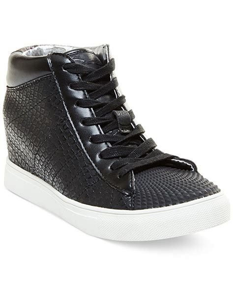 lyst madden superstud lace up wedge high top
