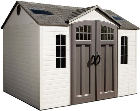 Plastic Flooring For Sheds by Lifetime 10x8 Side Entry Plastic Storage Shed With Floor 60095