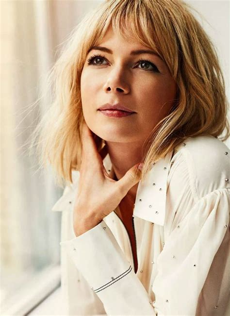 hairstyles blonde fringe michelle williams photoshoot for elle france october