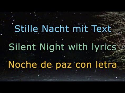 printable lyrics to noche de paz stille nacht mit text silent night with lyrics noche de
