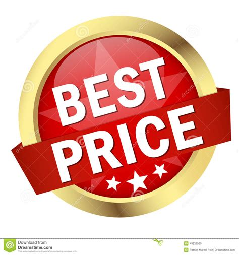best for the price button with banner best price stock vector image 49225560