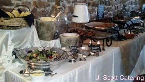 country buffet catering j catering philadelphia chester county event caterers wedding caterer 187 rustic wedding