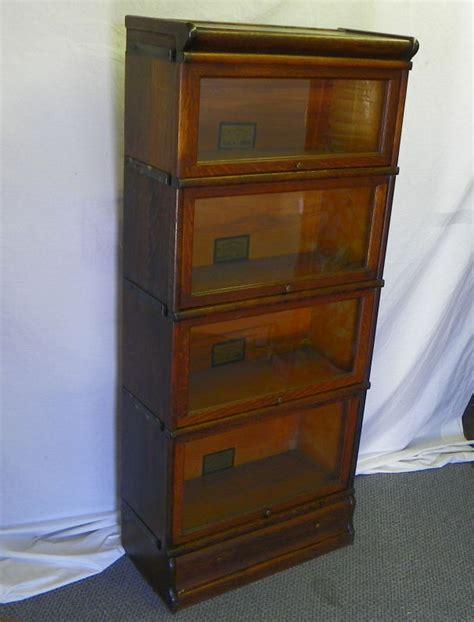 Antique Oak Barrister Bookcase bargain s antiques 187 archive antique four high