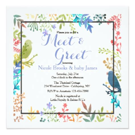 Sle Invitation For Meet And Greet Meet And Greet Invitations Announcements Zazzle