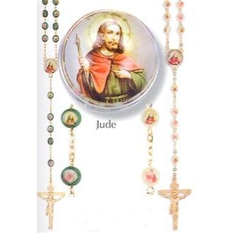 st jude rosary jude devotional rosary 2 bead color options 19