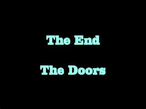 Lyrics To The End By The Doors by The End The Doors