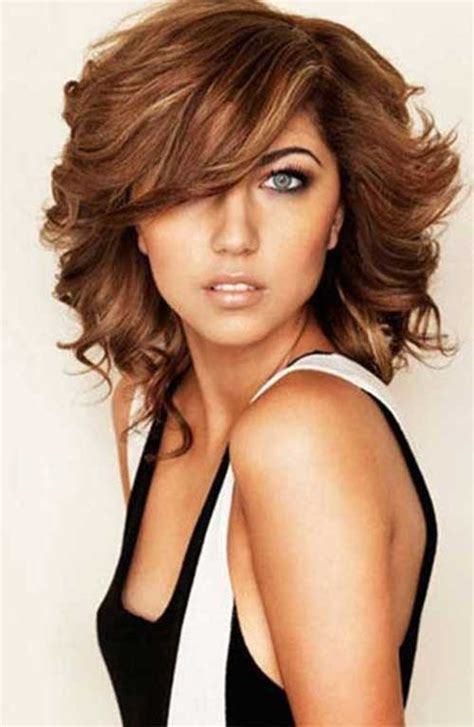 medium haircuts for thick hair round face 20 haircuts with bangs for round faces hairstyles
