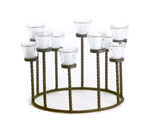 wrought iron centerpiece wrought iron centerpiece candleholder w 10 candles qvc