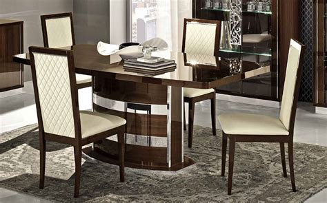 esf furniture roma dining table in walnut by dining rooms