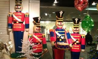 Outdoor Christmas Topiary Decorations - life size toy soldiers and nutcracker christmas decorations