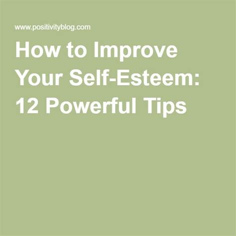 12 Best Ways To Improve Your Self Confidence by Best 20 Self Esteem Ideas On Low Self Esteem