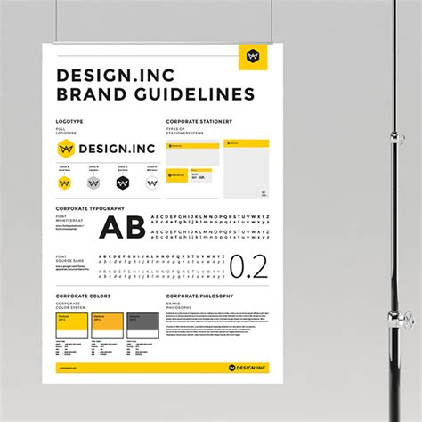 Design Poster Manual | brand manual and identity poster on behance