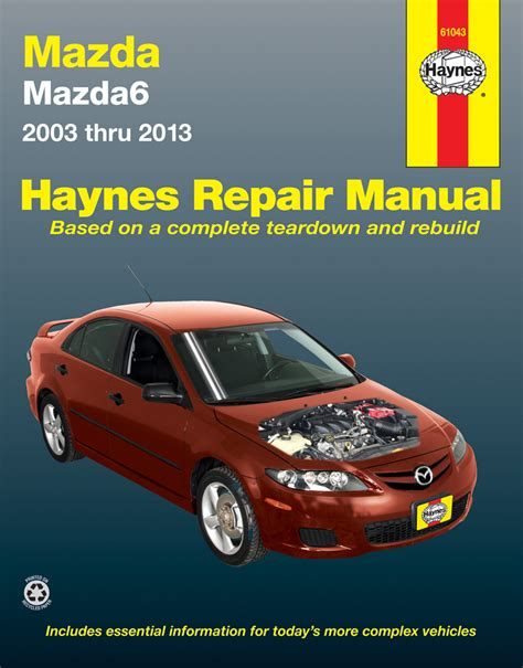 mazda 6 haynes repair manual 2003 2013 hay61043
