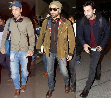 hairstyie of rainveer kapoor celebrities with their flight traveling dressing styles