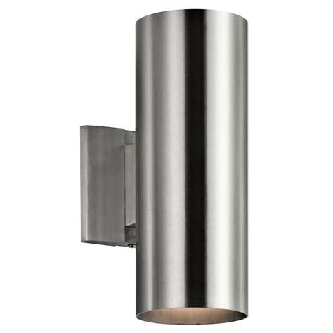 brushed nickel exterior lights kichler 9244ba modern brushed aluminum exterior light
