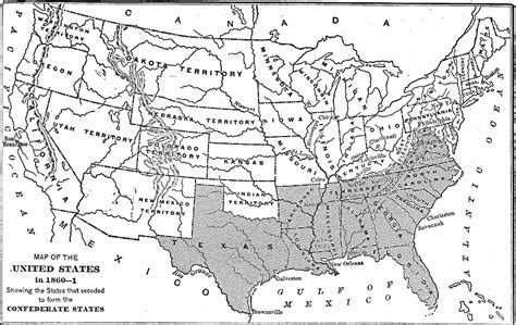 1861 map of united states the united states at the outbreak of the civil war