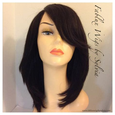lace closure bob wig fablux wigs by sylvia shoulder length bob full wig with no