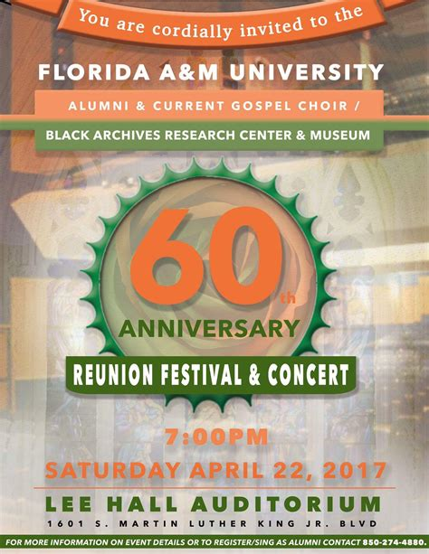 The Famu Gospel Choir S 60th Anniversary Reunion Festival