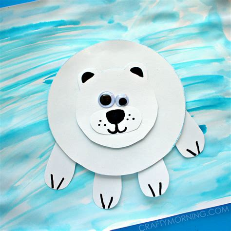 Winter Paper Crafts - paper polar on craft for crafts and