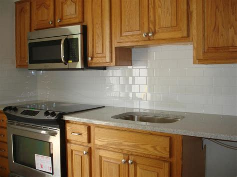 subway tile backsplashes for kitchens white kitchen with subway tile backsplash 432