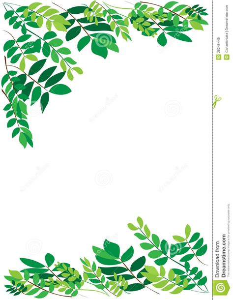 Foliage Border Stock Vector Illustration Of Background 25245449 Leaf Border Template