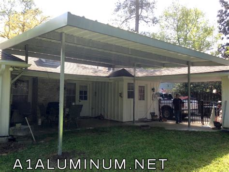 conroe awning steel patio cover in conroe 187 a 1