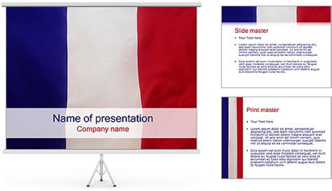 french flag powerpoint template backgrounds id