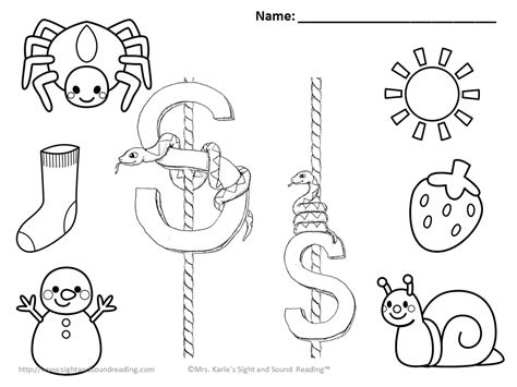 Coloring Pages Letter S Coloring Home Sound Of Coloring Pages