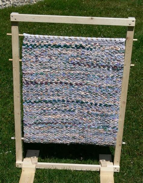 Rug Looms by Build Your Own Rag Rug Loom Downloadable Plans Fibre