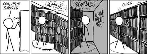 everybody shrugged books xkcd bookshelf