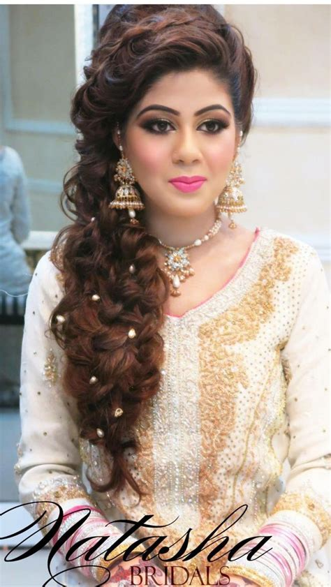 engagement hairstyles pakistani images natasha salon natasha salon pinterest natasha salon