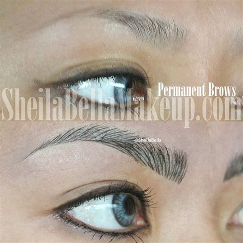 hair stroke eyebrow tattoo microblading brows permanent makeup and