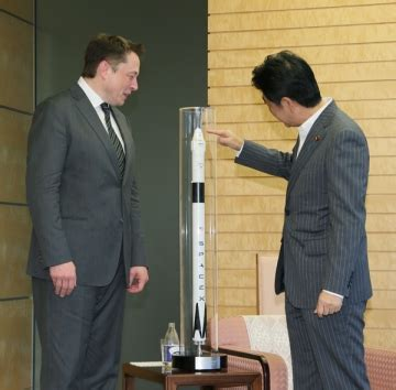 elon musk japan the prime minister receives a courtesy call from mr elon