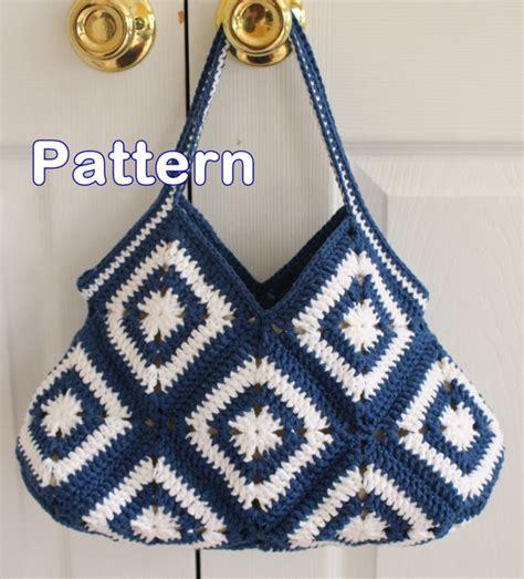 crochet pattern hobo bag crochet granny square hobo purse bag pdf pattern