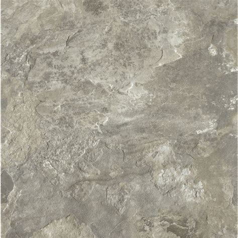 shop armstrong crescendo 1 piece 12 in x 12 in groutable french gray peel and stick stone