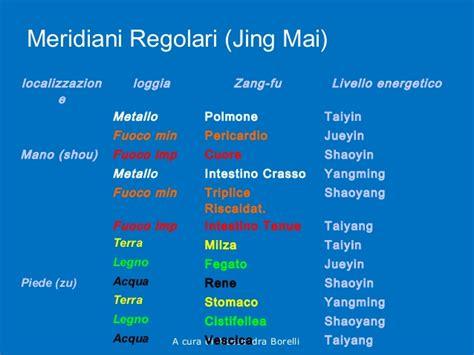 tavole meridiani energetici principi di medicina tradizionale cinese
