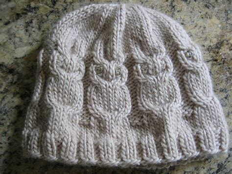 owl hat knitting pattern owl hat knitting