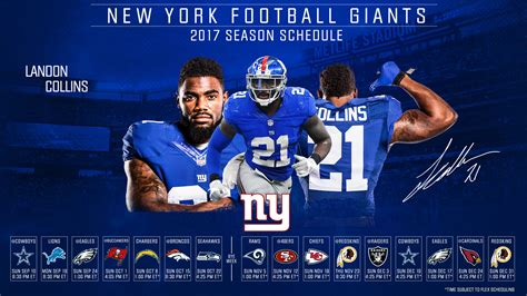 ny giants table l download the giants 2017 schedule wallpaper