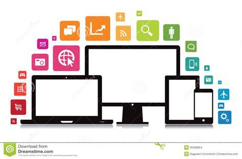 t駘馗harger icones bureau tablette de bureau smartphone app d ordinateur portable