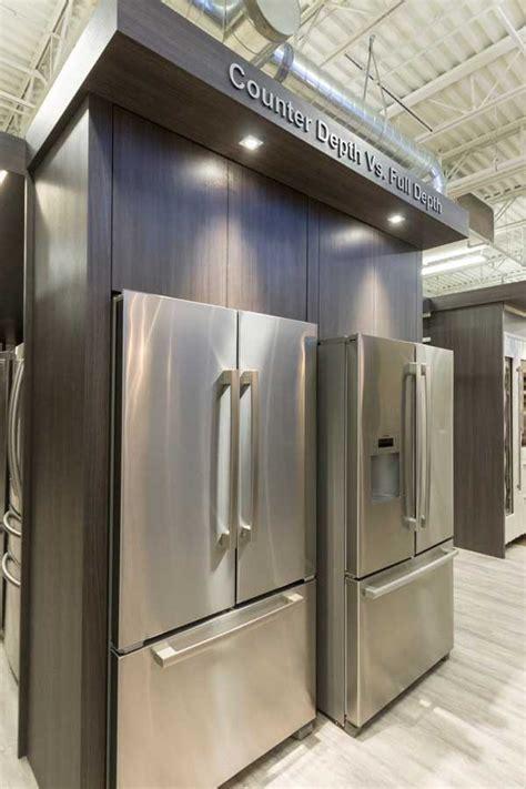 what is counter depth vs standard depth samsung rf18 counter depth refrigerator review reviews