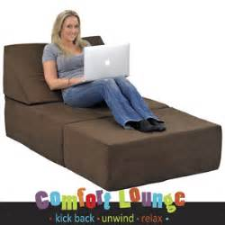 studio chair sleeper memory foam comfort lounge sleeper