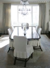 Slipcovered Dining Room Chairs Slipcovered Dining Chairs Transitional Dining Room
