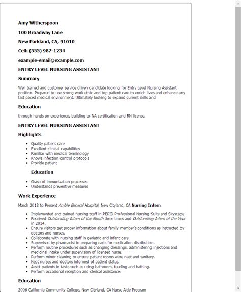 Resume For Cna by Cna Resume Gallery Cv Letter And Format Sle