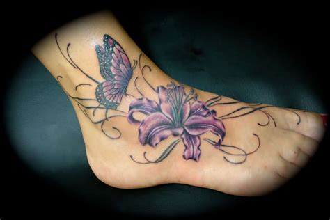 butterfly and lily tattoo designs images designs
